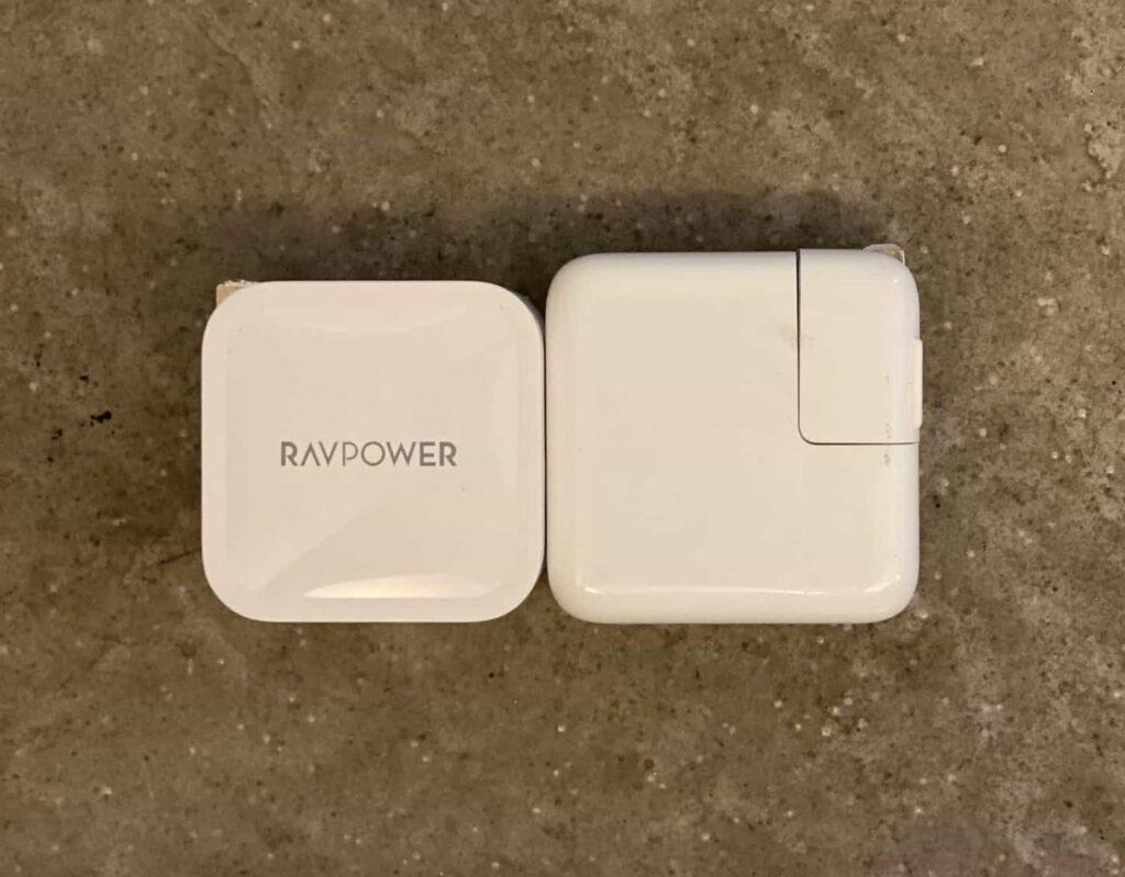RAVPower61Wの大きさ